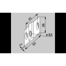 DORMA (dormakaba) Крепежная пластина для углового фитинга PT 30